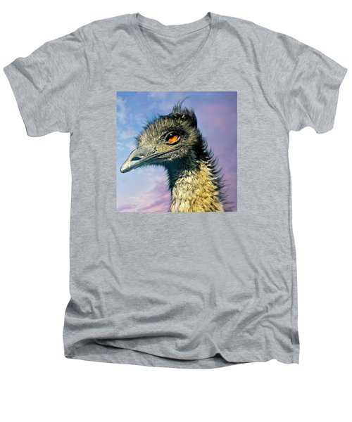 Friend Emu Men's V-Neck T-Shirt