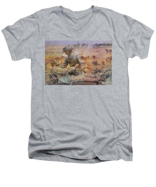 Friend To Friend Monument Gettysburg Battlefield Men's V-Neck T-Shirt