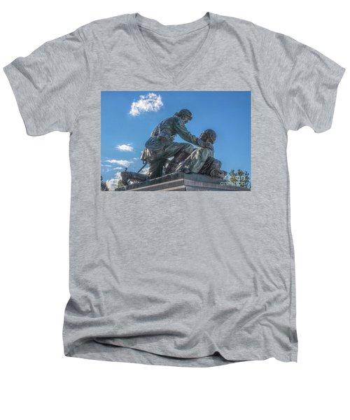 Friend To Friend Monument Gettysburg Men's V-Neck T-Shirt