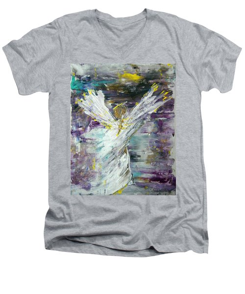 Friends Are Angels Men's V-Neck T-Shirt