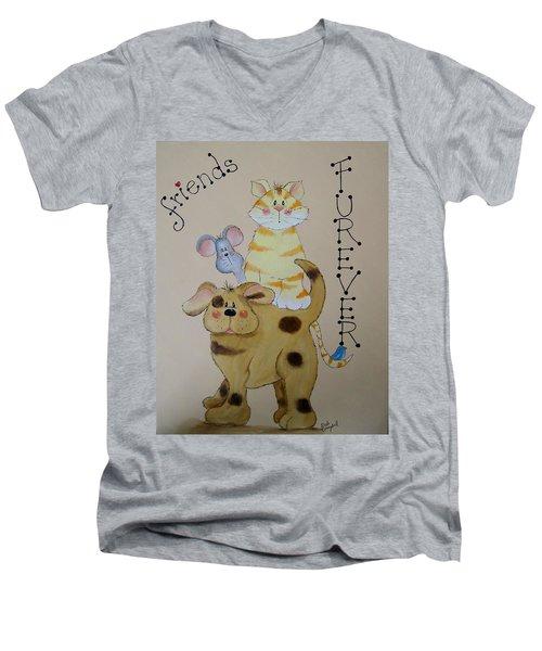 Friends Furever Men's V-Neck T-Shirt