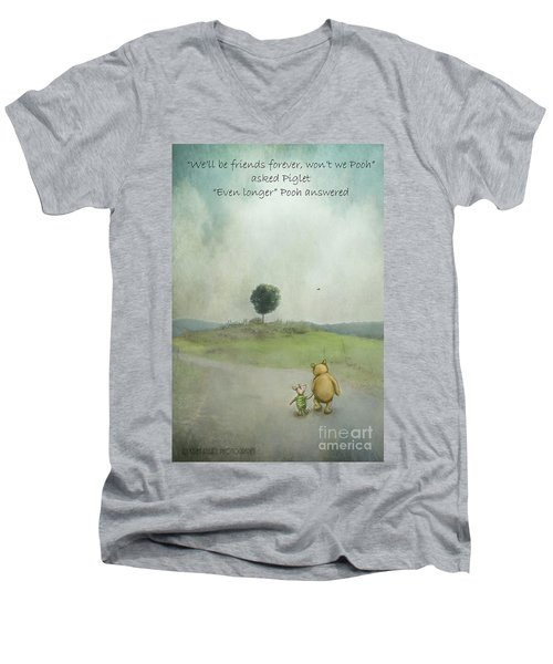 Friendship Men's V-Neck T-Shirt by Kathy Russell