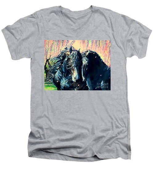 A Friesian Romance Men's V-Neck T-Shirt