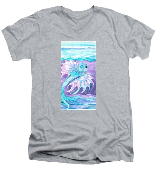 Frilled Fish Men's V-Neck T-Shirt by Adria Trail