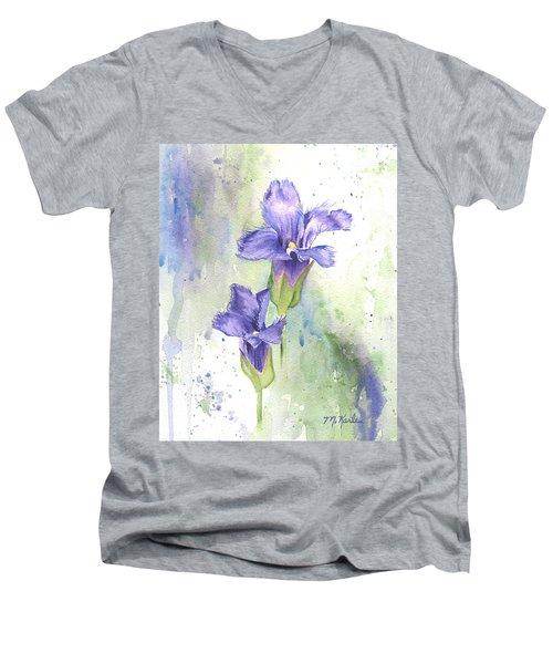 Fringed Gentian Men's V-Neck T-Shirt