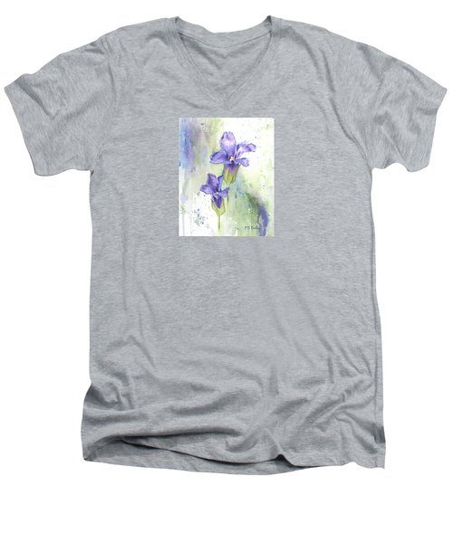 Fringed Gentian Men's V-Neck T-Shirt