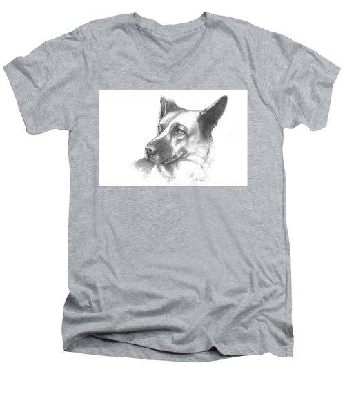 Fritz The German Shepherd Men's V-Neck T-Shirt