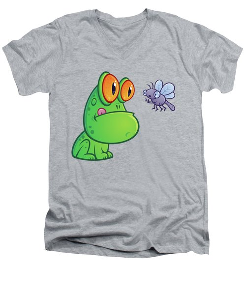 Frog And Dragonfly Men's V-Neck T-Shirt