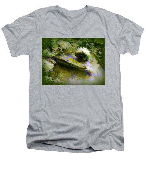 Frog In The Pond Men's V-Neck T-Shirt
