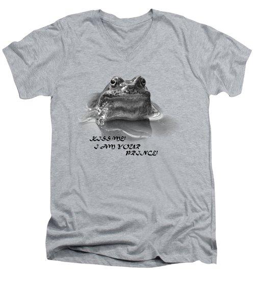 Frog The Prince Men's V-Neck T-Shirt