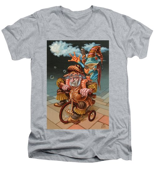 Froggy Circus Men's V-Neck T-Shirt