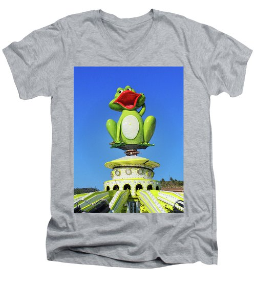 Froggy Men's V-Neck T-Shirt