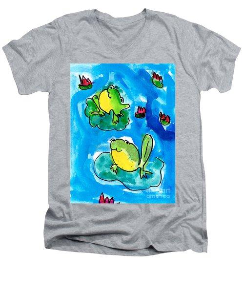 Frogs Men's V-Neck T-Shirt