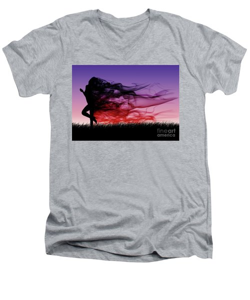 Frolicking Through The Meadow Men's V-Neck T-Shirt