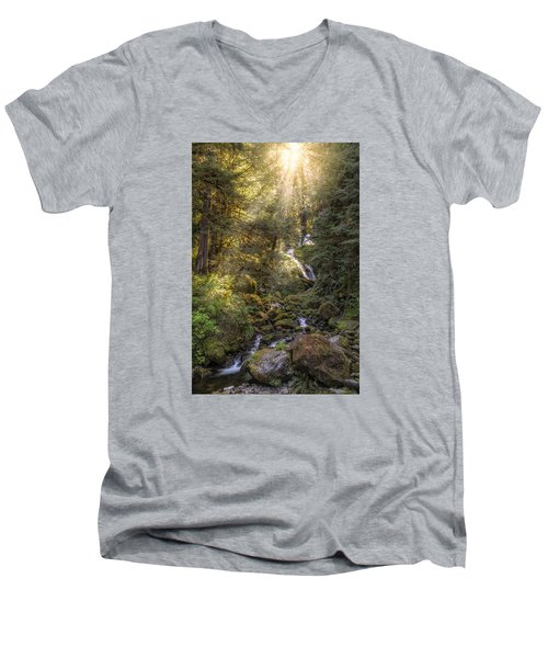 From Above Men's V-Neck T-Shirt by James Heckt