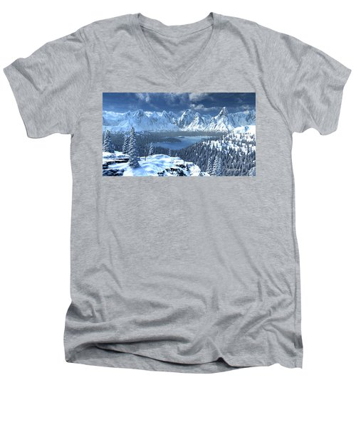 From An Open Sleigh Men's V-Neck T-Shirt