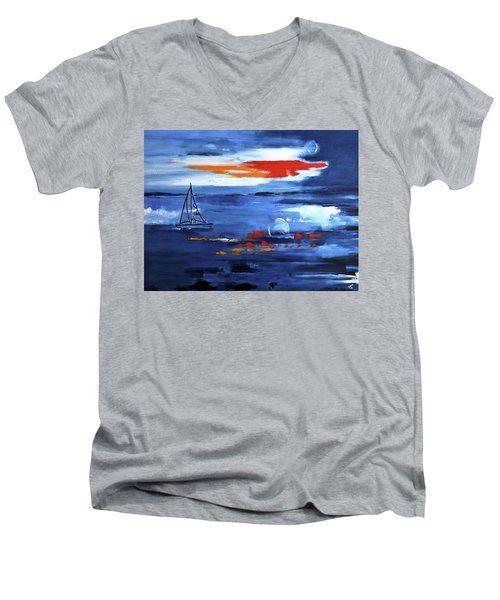 From Cleveland Point Men's V-Neck T-Shirt