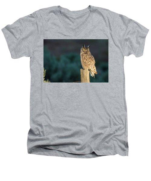 From Dusk Til Dawn Men's V-Neck T-Shirt by Scott Warner