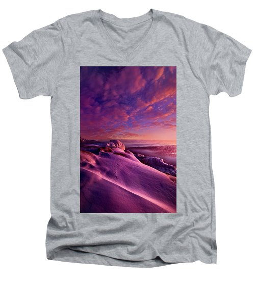 Men's V-Neck T-Shirt featuring the photograph From Inside The Heart Of Each by Phil Koch