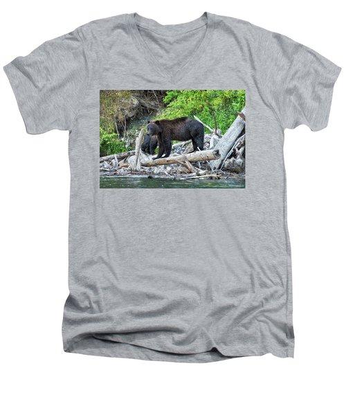 From The Great Bear Rainforest Men's V-Neck T-Shirt by Scott Warner