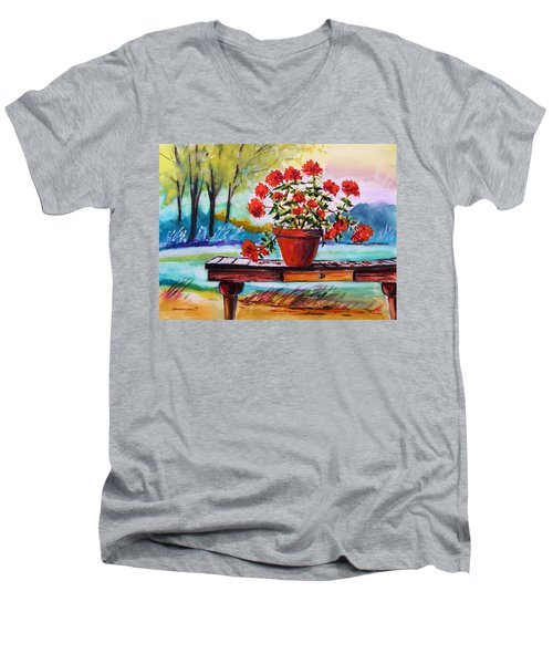 From The Potting Shed Men's V-Neck T-Shirt by John Williams