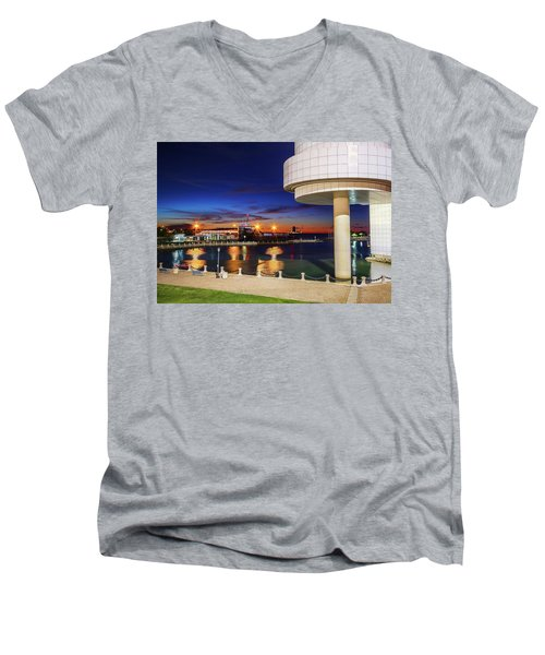 From The Rock Hall Men's V-Neck T-Shirt by Brent Durken