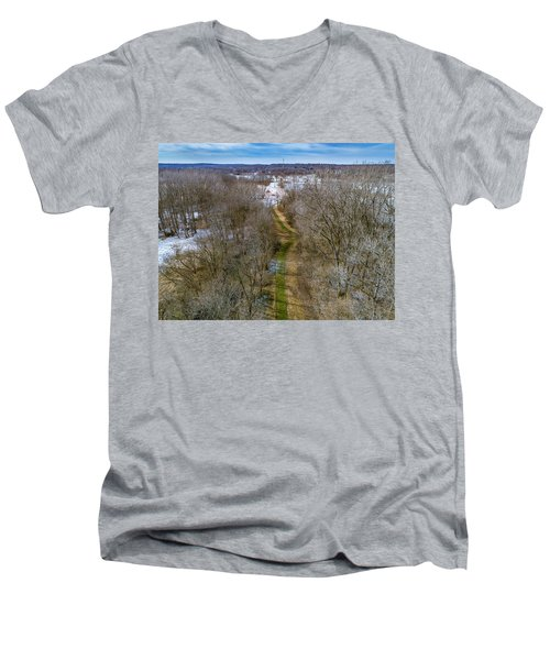 From Woods To Snow Men's V-Neck T-Shirt