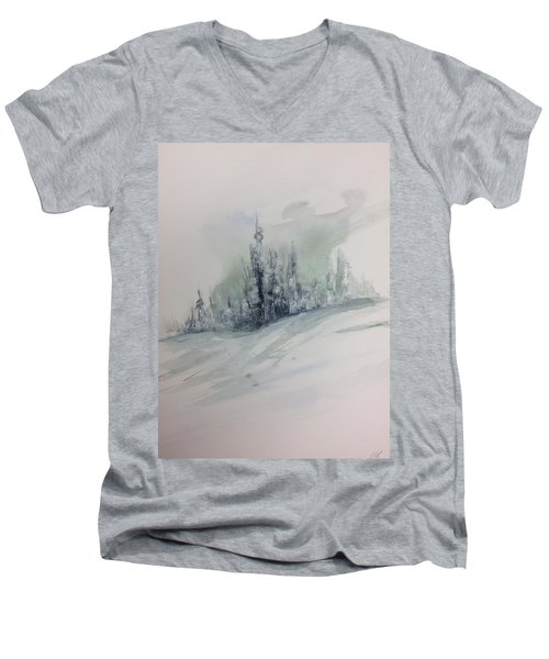 Frost On The Pines Men's V-Neck T-Shirt