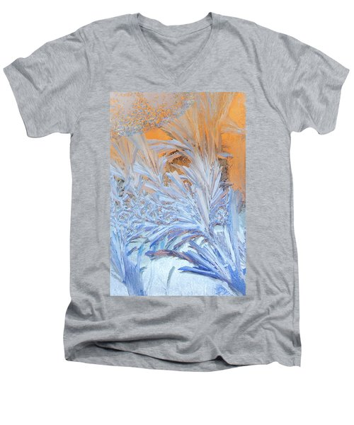 Frost Patterns On Window Men's V-Neck T-Shirt