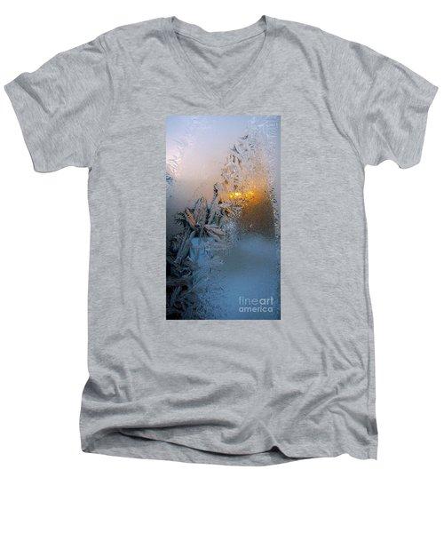 Frost Warning Men's V-Neck T-Shirt by Pamela Clements