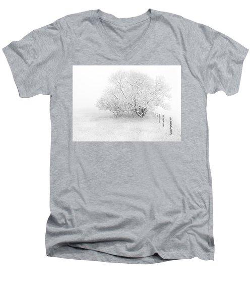 Frosted Men's V-Neck T-Shirt