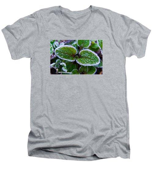 Frosted Edges Men's V-Neck T-Shirt