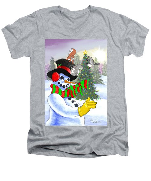Frosty And Friends Men's V-Neck T-Shirt