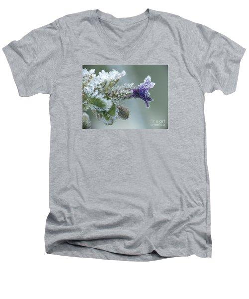 Frosty Flower Men's V-Neck T-Shirt by Odon Czintos