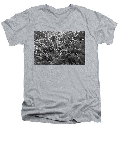 Men's V-Neck T-Shirt featuring the photograph Frosty Morning # 3 by Antonio Romero