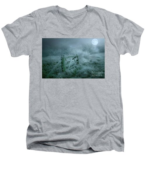 Frosty Night Men's V-Neck T-Shirt