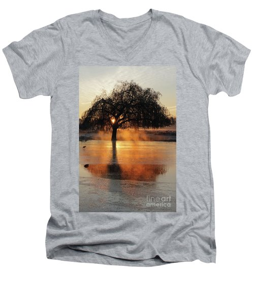 Frosty Sunrise In Bushy Park London 2 Men's V-Neck T-Shirt