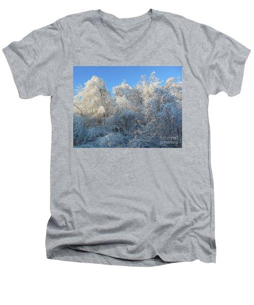 Frosty Trees Men's V-Neck T-Shirt
