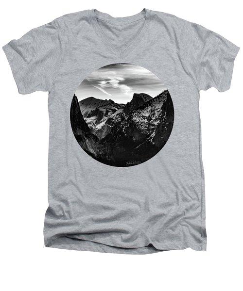 Frozen, Black And White Men's V-Neck T-Shirt