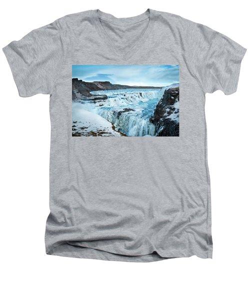 Frozen Gullfoss Men's V-Neck T-Shirt