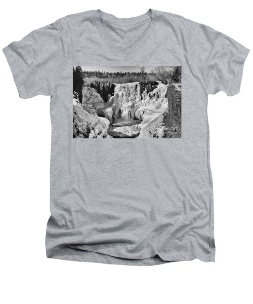 Frozen High Falls Men's V-Neck T-Shirt