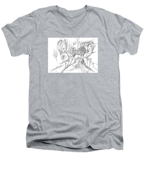 Frozen In Time Men's V-Neck T-Shirt by Charles Cater