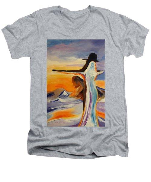 Frozen In Time Men's V-Neck T-Shirt by Geeta Biswas
