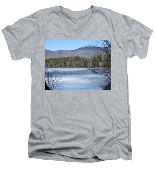 Frozen Lake Chocorua Men's V-Neck T-Shirt by Catherine Gagne