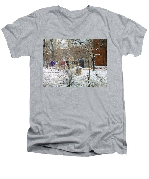 Frozen Laundry Men's V-Neck T-Shirt