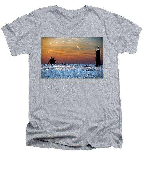 Frozen Lighthouse Men's V-Neck T-Shirt