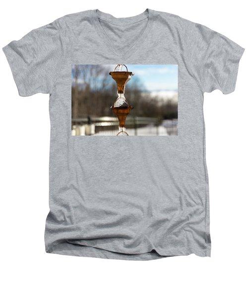 Frozen Rain Chains Men's V-Neck T-Shirt