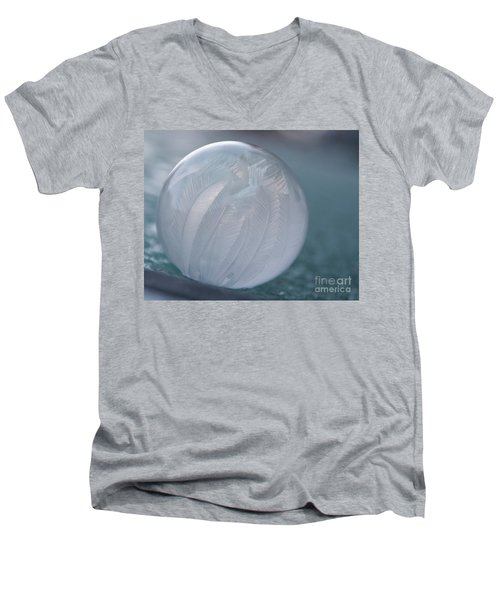 Frozen Soap Bubble -georgia Men's V-Neck T-Shirt