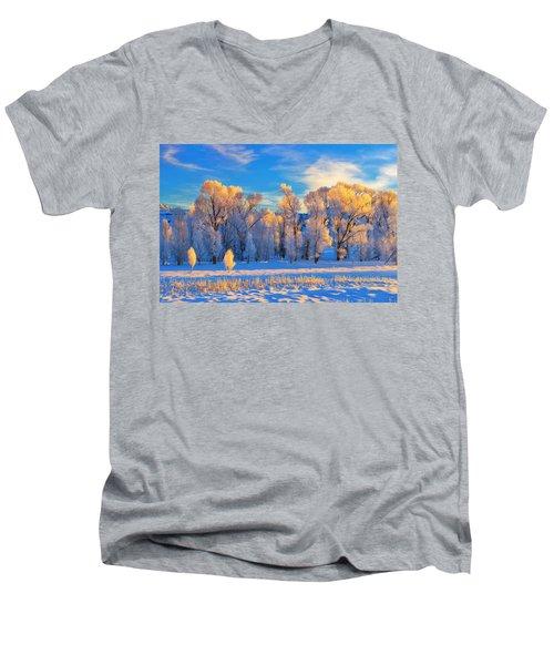 Frozen Sunrise Men's V-Neck T-Shirt
