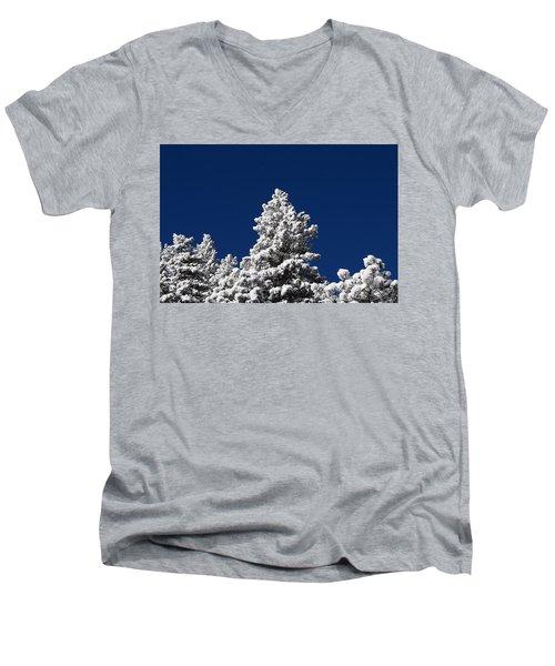 Frozen Tranquility Ute Pass Cos Co Men's V-Neck T-Shirt